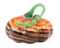 Brown & Orange Short Glass Pumpkin