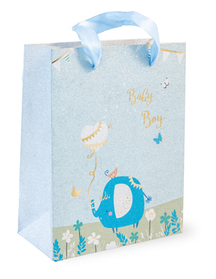 Baby Boy Blue Elephant Bag