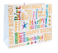 Happy Birthday Large Print Bag