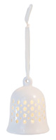 Alabaster Stars LED Bell Ornament
