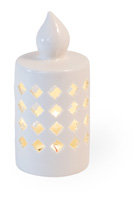 Alabaster Quatrafoil LED Candle