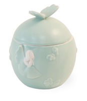 Mint Butterfly Angel Jar