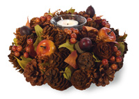 Fall Berries Candle Wreath