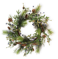 Blueberry & Pinecone Wreath