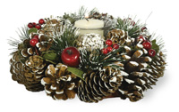 Pinecone Greens Candle Wreath