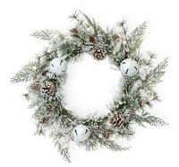 Glitter White Bells Wreath