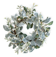 Glittery Mistletoe Wreath