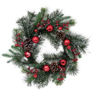 Frosted Tips Evergreen Wreath