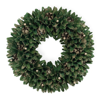 Gold Tip Yuletide Green Wreath