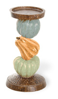Harvest Dolls Pumpkin Pillar Holder Small