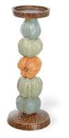 Harvest Dolls Pumpkin Pillar Holder Large