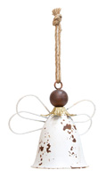 Rustic White Hanging Angel