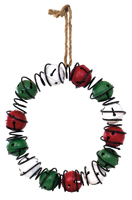 Red Green & White Bell Wreath