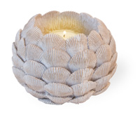 Golden Shell Votive Candle Holder