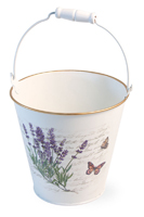 Lavender Butterfly Pail with Handle