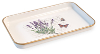 Lavender Butterfly Rectangle Tray