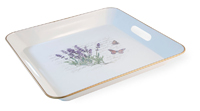 Lavender Butterfly Square Tray