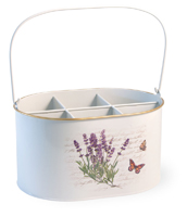 Lavender Butterfly Cutlery Caddy
