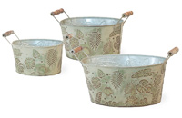 Palm Leaf Oval Buckets