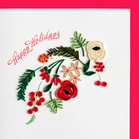 Quilling Card Holiday Blooms