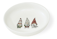 Gnome Gathering Shallow Bowl