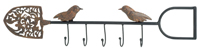 Garden Critters Bird & Shovel Hook