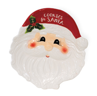 Holly & Ivy Santa Cookie Plate