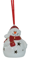 Sparkles Snowman LED Ornament