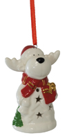Rufus Reindeer LED Ornament