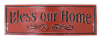 Bless our Home Metal Sign
