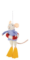 Lifeguard Rocky Yachty Mouse Ornament