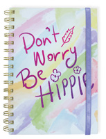 Don't Worry Wire Notebook with Band Large