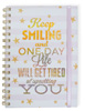 Keep Smiling Wire Notebook with Band Large