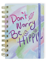 Don't Worry Wire Notebook with Band Small