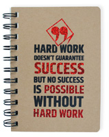 Hard Work Wire Notebook Small