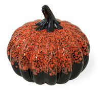 Black & Orange Speckled Pumpkin