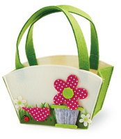 Floral Purse Felt Basket