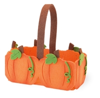 Felt Pumpkin Basket Gift Bag
