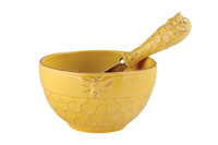 Honeycomb Bowl & Spreader Set