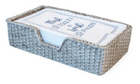 Basket Weave Silver Guest Towel Caddy