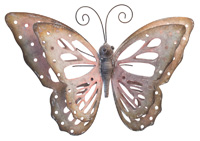 Butterfly Wall Art Pink