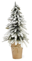 Snowy Pines Potted Pinetree Large