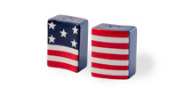 Americana Stars & Stripes Flag Salt & Pepper Set