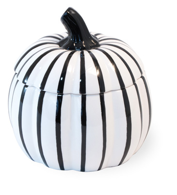 White & Black Pumpkin Dish