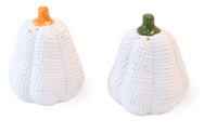 White Burlap Salt & Pepper Set
