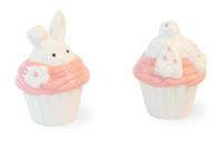 Cupcake Bunny Salt & Pepper Set