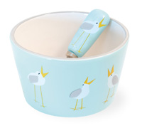Seagulls Bowl & Spreader Set