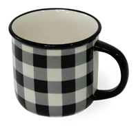 Black & White Check Mug