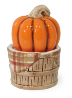 Pumpkin Basket Salt & Pepper Set