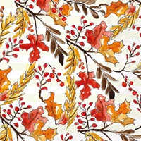 Rosanne Beck Amber Foliage Lunch Napkins